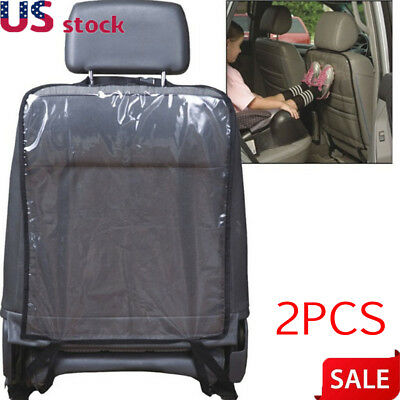 2pcs Car Seat Back Protector Cover for Children Babies Kick Mat Protects from US