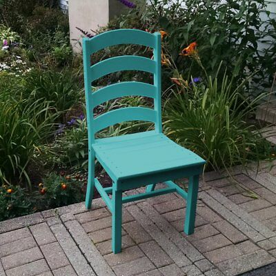 A & L Furniture Poly Ladderback Outdoor Dining Side Chair