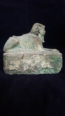 Rare ANCIENT EGYPTIAN Antique SPHINX Pharaohs Pyramids Royal Statue 2605-2579 BC