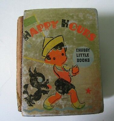 Rare Whitman 1935 Chubby Big Little Book Happy Hours Great Old Stories