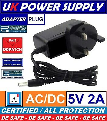 To Fit YDT-AC-005 IPTV Set Top Box MAG250 Power Supply Adapter Plug 5V AC DC UK