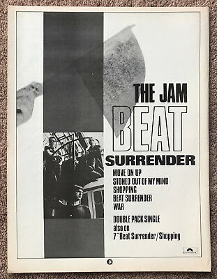 THE JAM - BEAT SURRENDER 1982 full page magazine ad