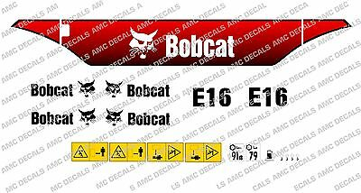 BOBCAT 328 MINI Digger Decal Set - £55 00 | PicClick UK