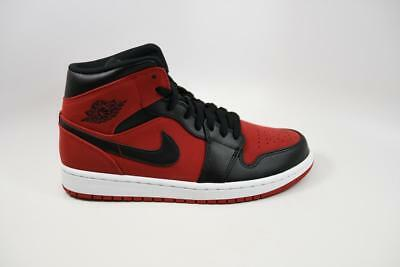 size 40 faab2 35506 Nike Air Jordan 1 Mid Gym Red Black White Bred Banned lot 554724 610 Size 10