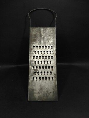 Antique Vintage Metal Cheese Grater Shredder 14.5 x 4.25 in.