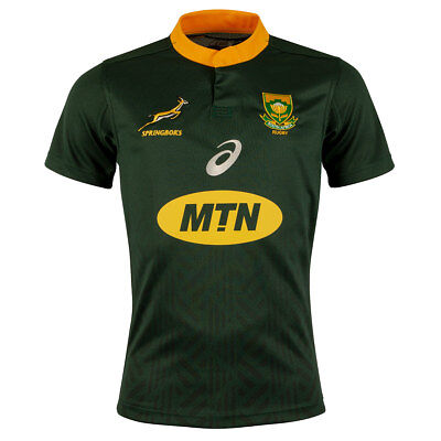 South Africa Rugby jersey shirt Springboks 2018 asics authentic rare home kit