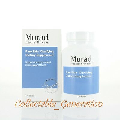 Murad Pure Skin Clarifying Dietary Supplement 120 Tablets New in Box EXP 02/2020