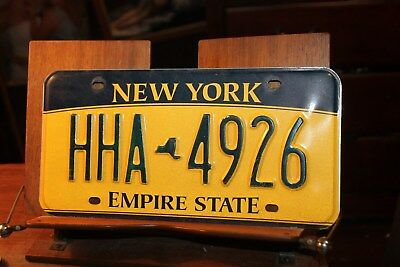 2010 New York Empire State License Plate HHA 4926 (A)