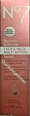 No7 Restore and Renew Face and Neck MULTI ACTION Serum 50ml