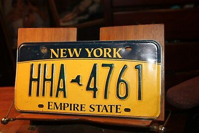 2010 New York Empire State License Plate HHA 4761 (A)
