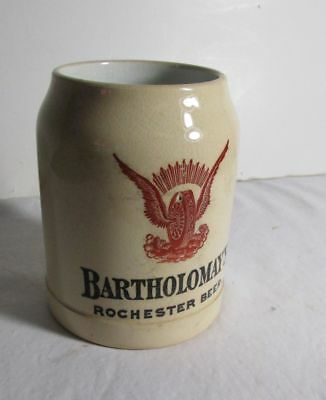 Pre-Pro Beer Stein - Bartholomay Brewing Co Rochester NY Brewery No Lid
