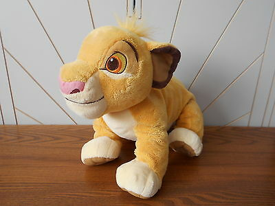 SIMBA LION CUB large plush beanie soft toy THE LION KING Disney Store Exclusive
