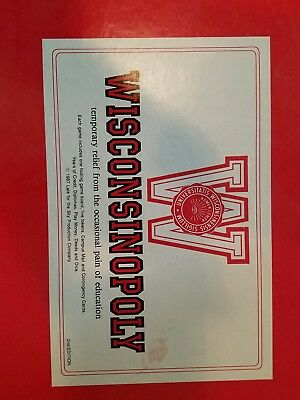 WISCONSINOPOLY Board Game Vintage Wisconsin Madison 1986 1st ed Opoly Monopoly