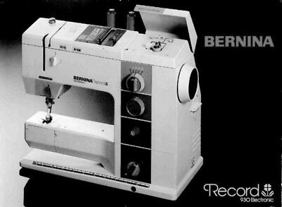 Bernina 930 record instruction manual users guide cd pdf or bernina record 930 electronic sewing machine owners instruction manual fandeluxe Gallery