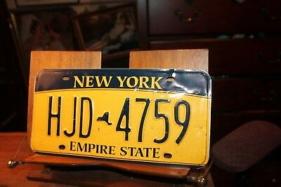 2010 New York Empire State License Plate HJD 4759 (B)
