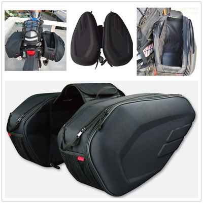 Universal Motorcycle Saddle Bags Outdoor Luggage Pannier With Rain Cover 36-58L