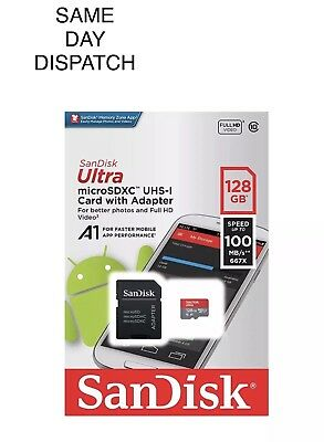 SanDisk Ultra Class 10 100MB/s 667X Micro SD SDHC Memory Card With Adopter 128GB