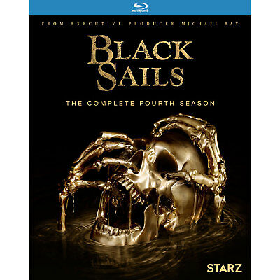 Black Sails Season 4 Blu-Ray New Sealed The Complete Fourth Season Starz Pirates