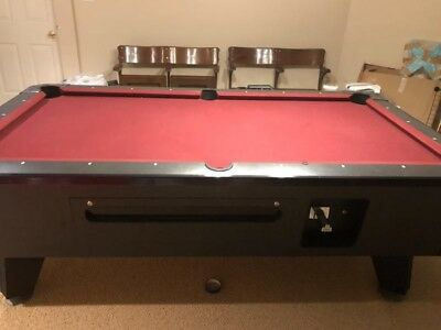 VALLEY PANTHER POOL TABLE Black Cat Finish COIN OPERATED Hard - Panther pool table