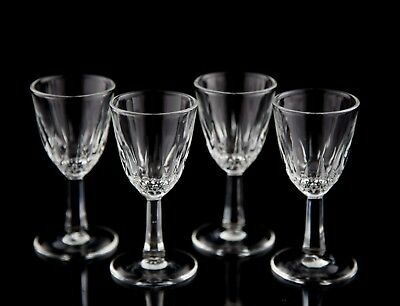Cristal D'Arques Diamant Cordial Glasses, Set of (4), Vintage Crystal France