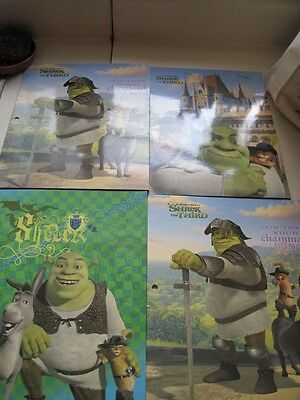 4 Shrek Folders Donkey Puss Boots Don't Get Chainmail Bunch Third Fiona School