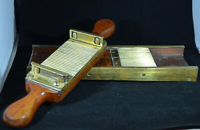 Walnut and Brass Pill Roller, Antique Apothecary Equipment, c. 1880's