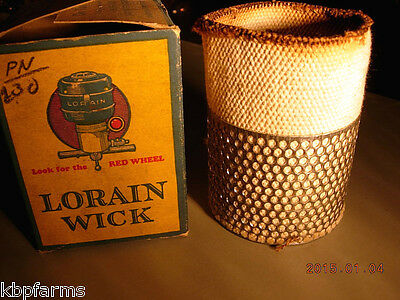 Vintage LORAIN #23-5-41 Oil Stove Lamp Cotton Metal Circular WICK New Old Stock