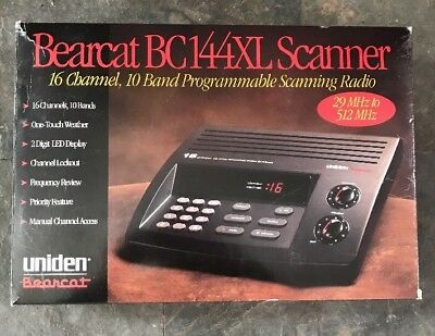uniden bearcat bc144xl 16 channel 10 band scanning radio police fire rh picclick com uniden scanner bc144xl manual uniden scanner bc144xl manual
