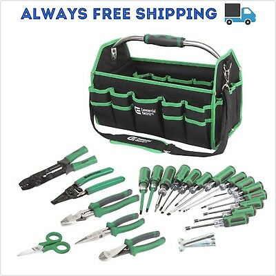 Electrical-Electrician-22-Piece-Tools-Hand-Tool-Set-Kit-Screwdriver-Pliers-Bag