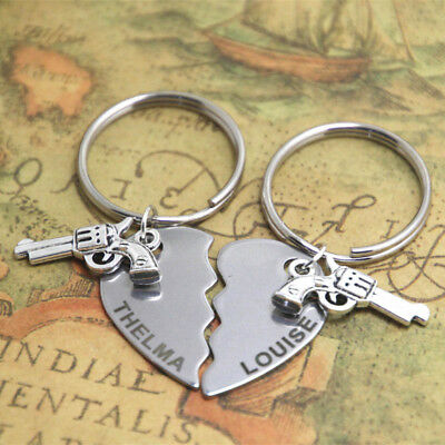 Thelma and Louise Set keyring best friends Friendship partner in crime keychain