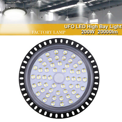 200W UFO LED High Bay Light Fixture Warehouse Industrial Lamp Shed Gym 240V