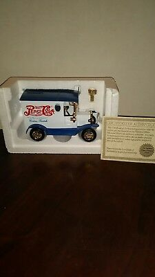 Pepsi Cola Truck Coins Bank With Key And Certificate  National Motor Museum Mint