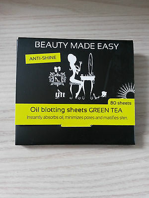 Beauty made Easy Anti Shine Oil Blotting sheets green Tea