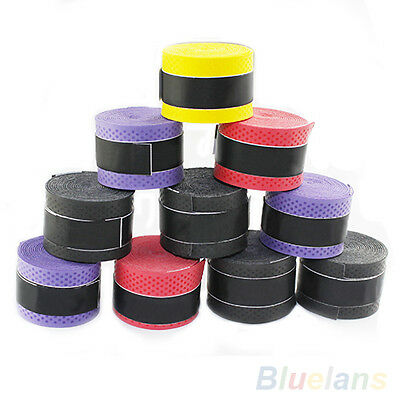 FX- 10x Anti-slip Racket Over Grips Polyurethane Tennis Badminton Sweatband B82A
