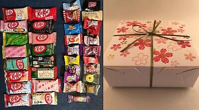36pc Japanese Sweets SAKURA Gift Box Set (16 Kit Kat + 20 Candy) kitkat kats