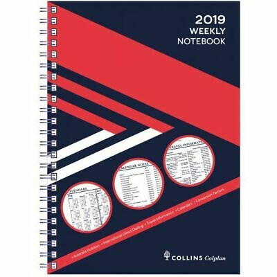 2019 Colplan Diary A5 Week to a Page With Notes Red/Blue
