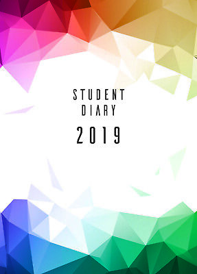 Colplan 2019 A5 Student Diary Diaries SC37 Week To View Thermal Bound Booklist I