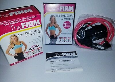 NEW The FIRM Total Body Cardio & Toning Kit 3 WORKOUTS + RESISTANCE CORD + BONUS
