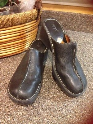 091fb33372f9 HARLEY DAVIDSON WOMEN S Shoes Black Leather Clogs  Mules 2 Side ...