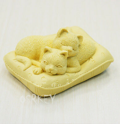 Lovely Cats S298 Silicone Soap mold Craft Molds DIY Handmade soap mould