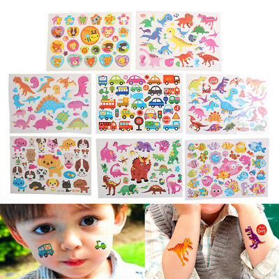 3D Kid Baby Cartoons Dinosaurs Car Waterproof Temporary Tattoo Sticker PastePB