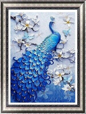 AU Full Drill DIY 5D Diamond Embroidery Painting Peacock Flower Cross Stitch LE
