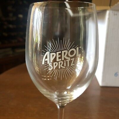 Aperol Sprtiz Wine Glasses x6