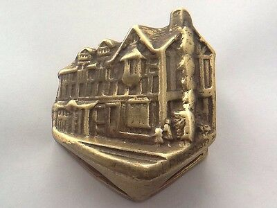Vintage Brass Shakespeare's Cottage Door Knocker - Detailed Back Plate