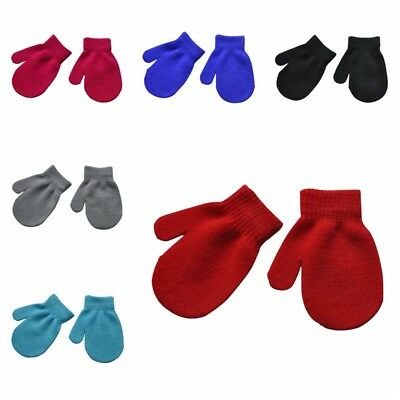Newborn Infant Kid Baby Boy Girl Warm Gloves Toddler Mini Knitted Mittens Gloves