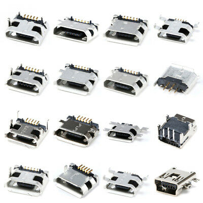 ALL Mini Micro USB Type-B 5P Female Socket DIP/SMT/SMD 5 Pin Jack Connector Home