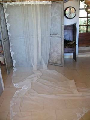 French Antique Chateau Net Curtain 13ft  (396cm)