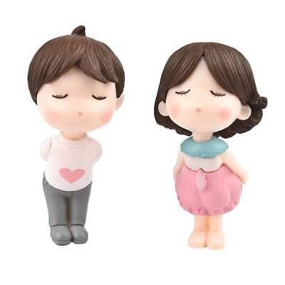 Lovely Kissing Couple Character Doll Crafts Ornaments Micro Landscape Decoration