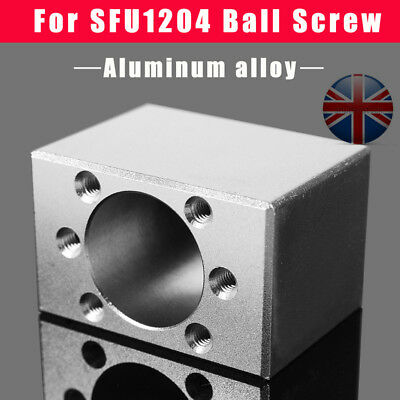 UK Ballscrew Nut Bearing Blocks Housing Seat Mount Holder For SFU1204 Ball Screw