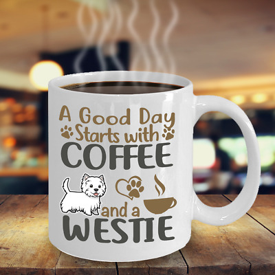 Coffee With My West Highland White Terrier Mug, Westie Coffee Mug, Westie Gift